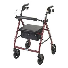 Drive Medical - R728RD -  Rollator Walker With Fold Up Removable Back Support Padded Seat