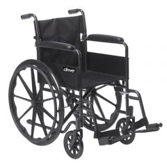 Drive Medical - ssp118fa-sf -  Sport 1 Wheelchair with Full Arms and Swing away Removable Footrest