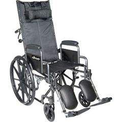 Drive Medical From: ssp18rbdda To: ssp18rbdfa - Sport Reclining Wheelchair With Elevating Leg Rests