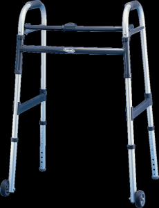 Invacare - 6291-JR5F - Dual-Release Paddle Junior Walker with Fixed Wheels and Glide Tips